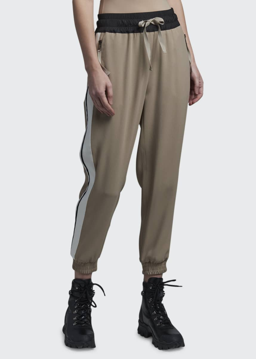 Moncler Side Stripe Stretch Crepe Joggers