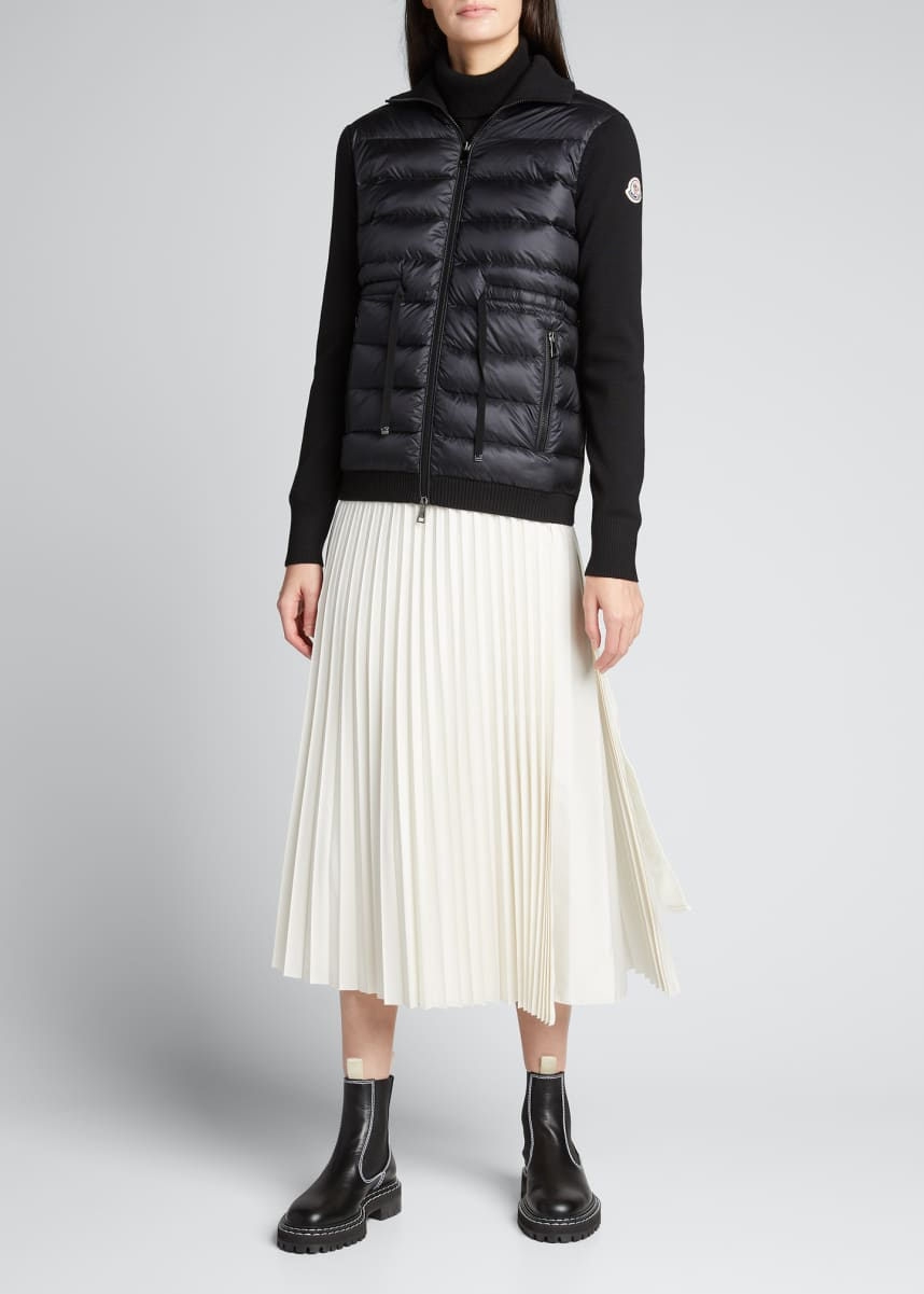 Moncler Pleated Wrap Skirt