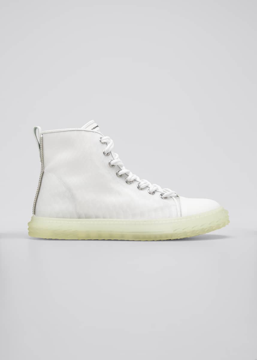 Giuseppe Zanotti Men's Transparent Blabber High-Top Sneakers