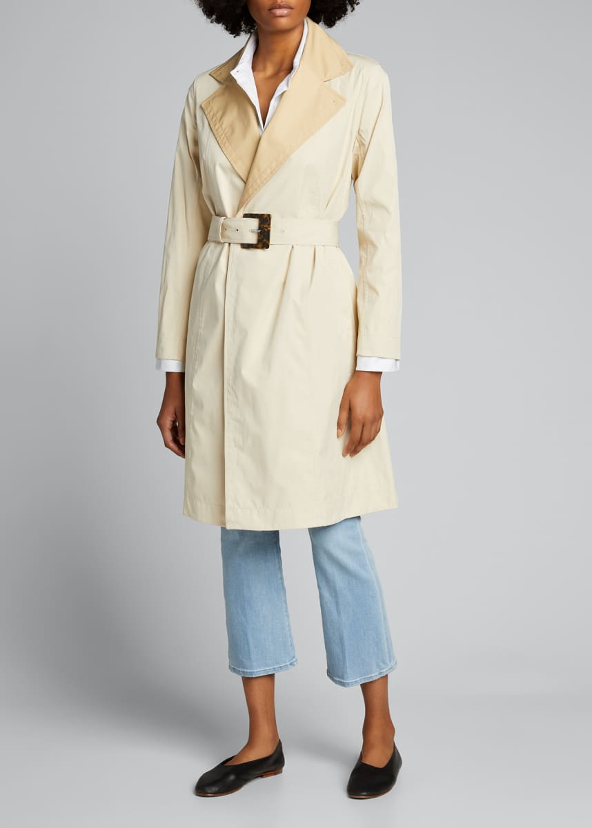 Lafayette 148 New York Rosemont Eclipse Outerwear Reversible Trench Coat