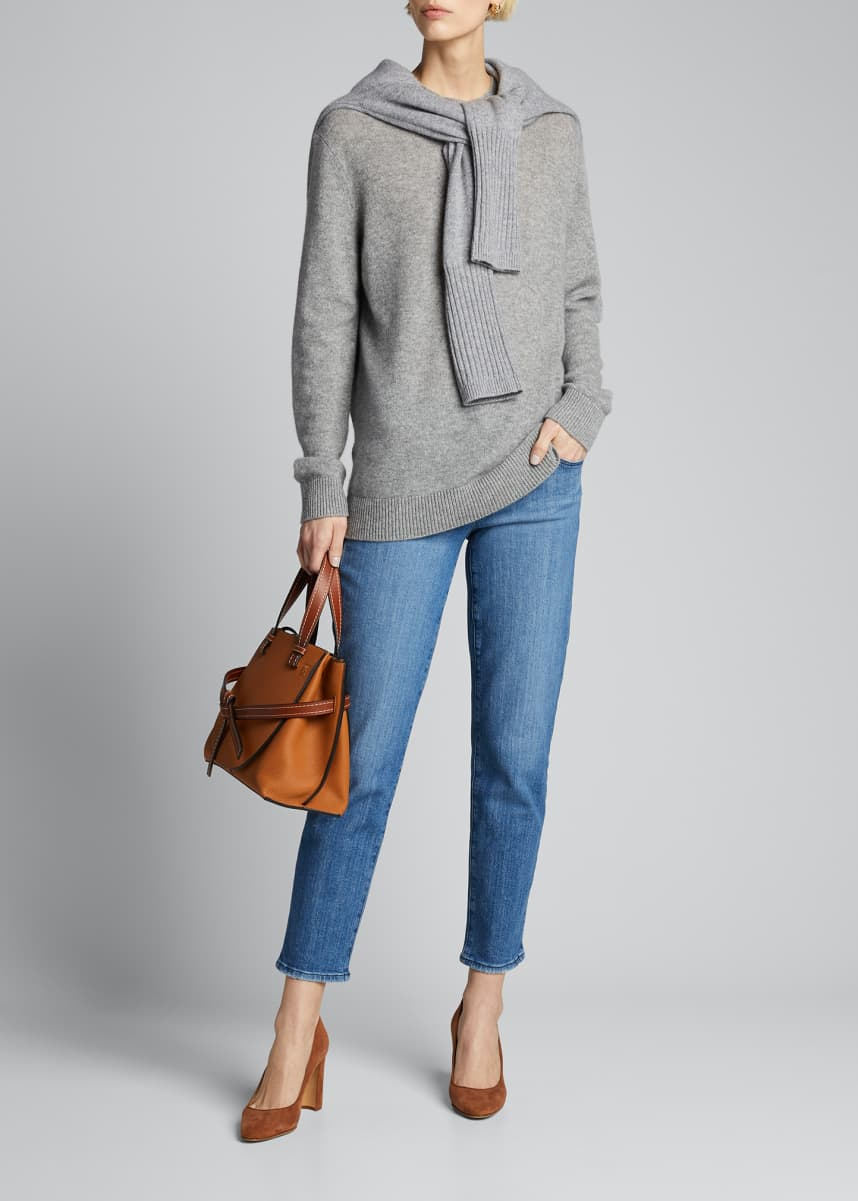 J Brand Adele Mid-Rise Straight Cropped Jeans