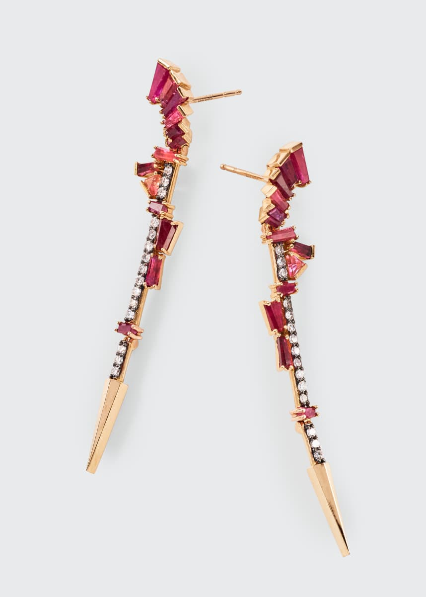 Nak Armstrong Filly Linear Multi-Stone Earrings