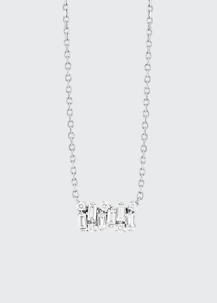 Suzanne Kalan 18K White Gold Small Diamond Shimmer Necklace