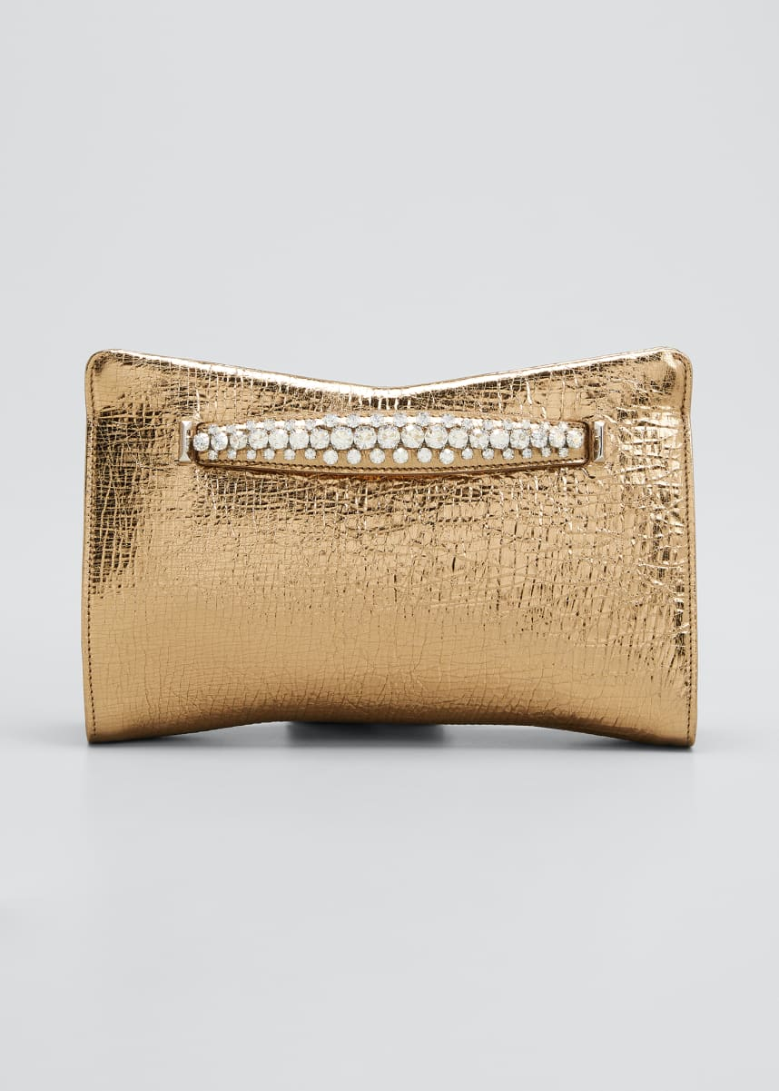 Jimmy Choo Venus Metallic Leather Clutch