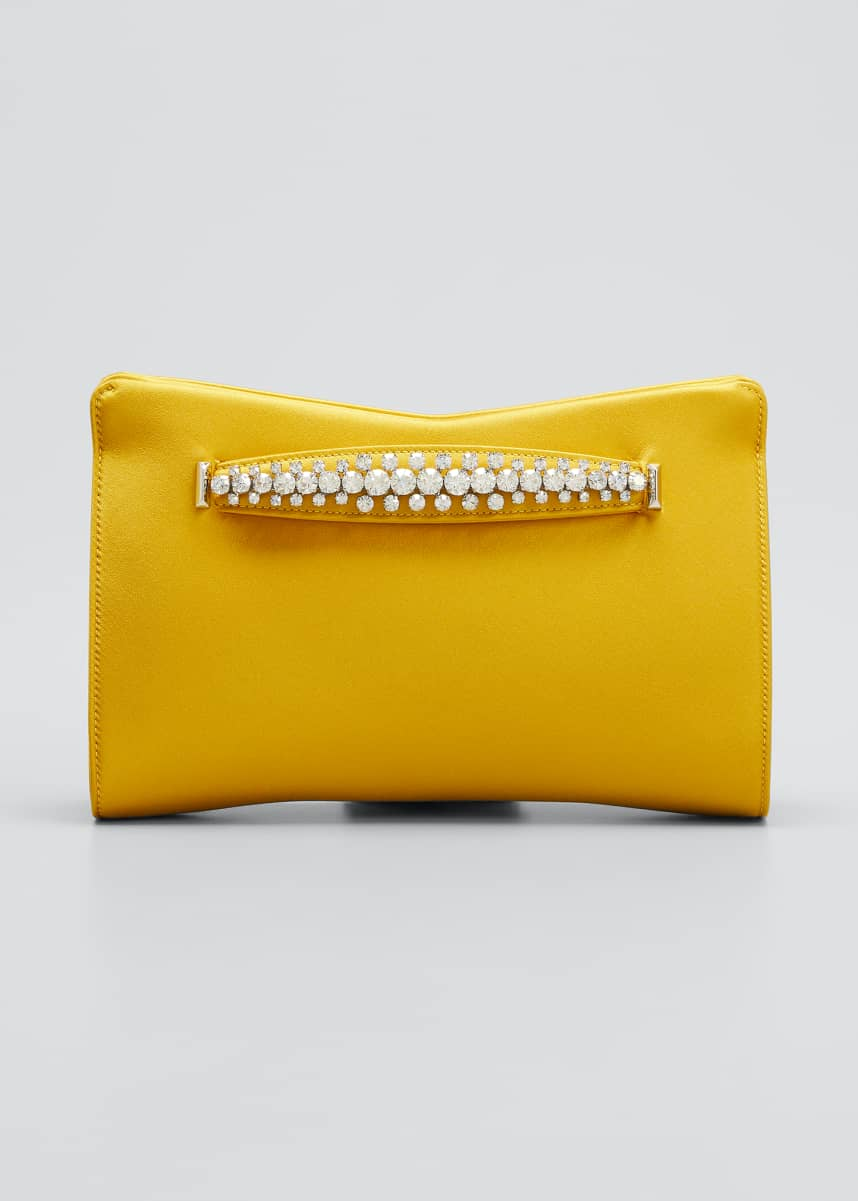Jimmy Choo Venus Satin Clutch Bag
