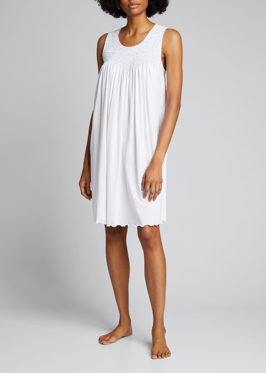 P Jamas Allegra Sleeveless Jersey Nightgown