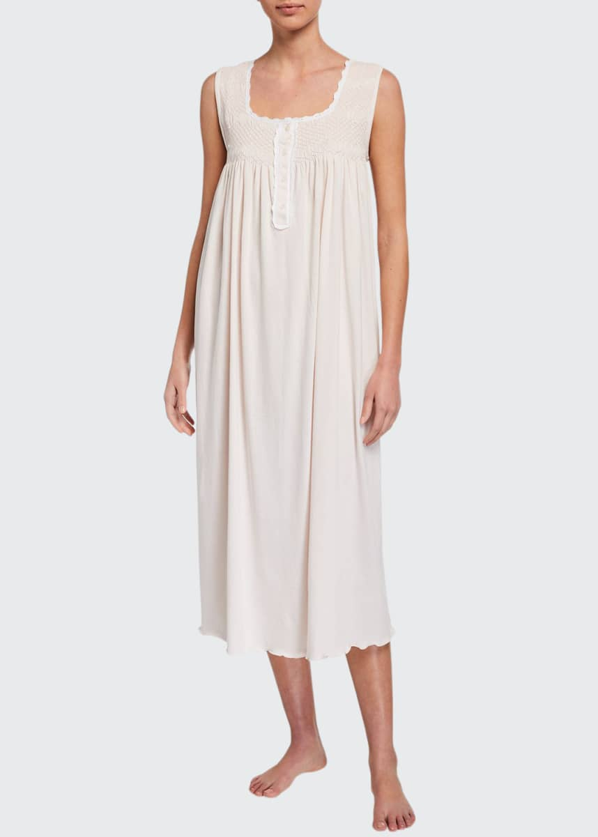 P Jamas Lucero Heirloom Sleeveless Nightgown