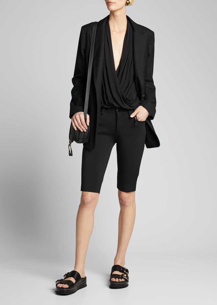 Blanc Noir Expedition Drape Mesh Panel Top