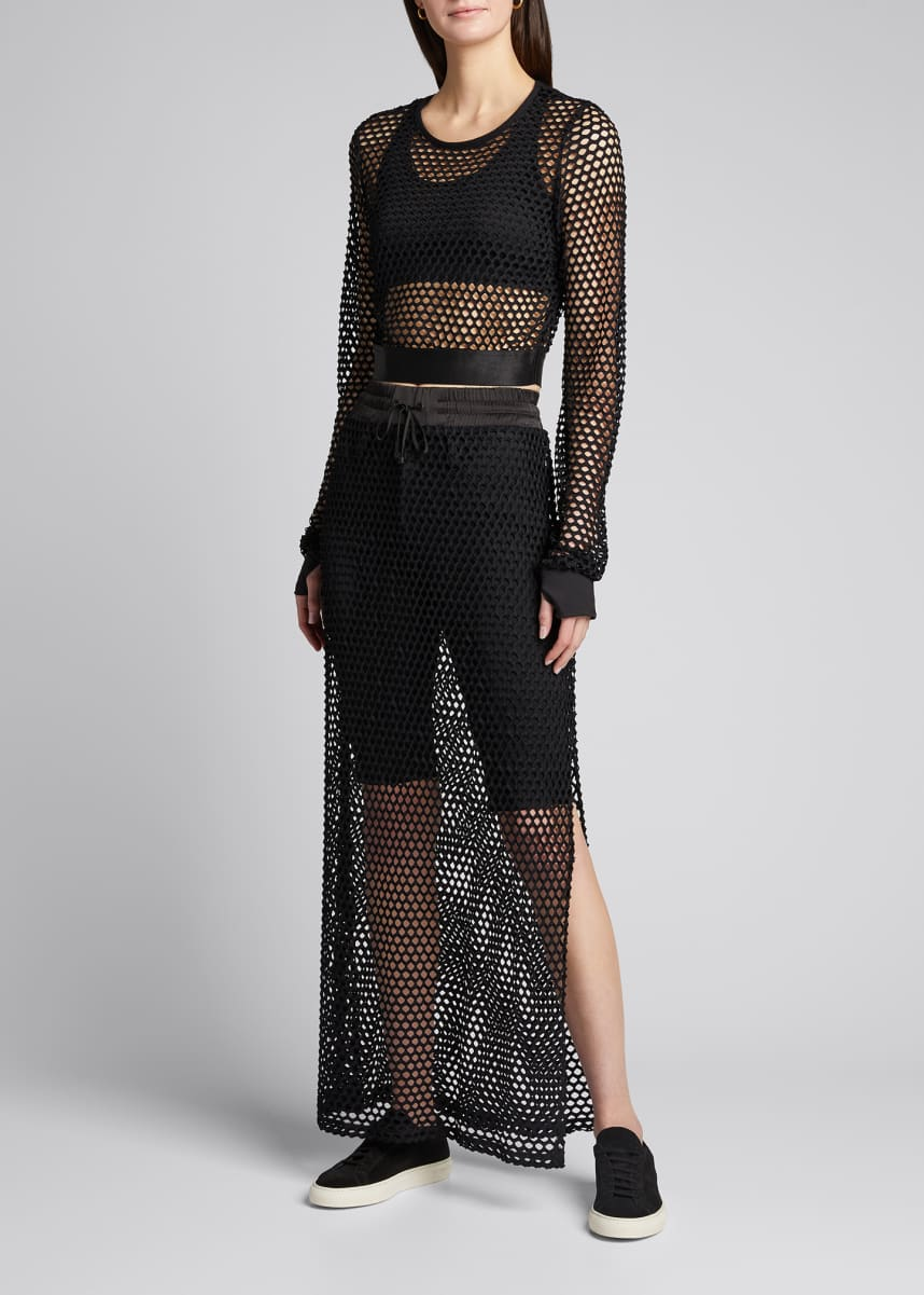Blanc Noir Expedition Mesh Crop Top