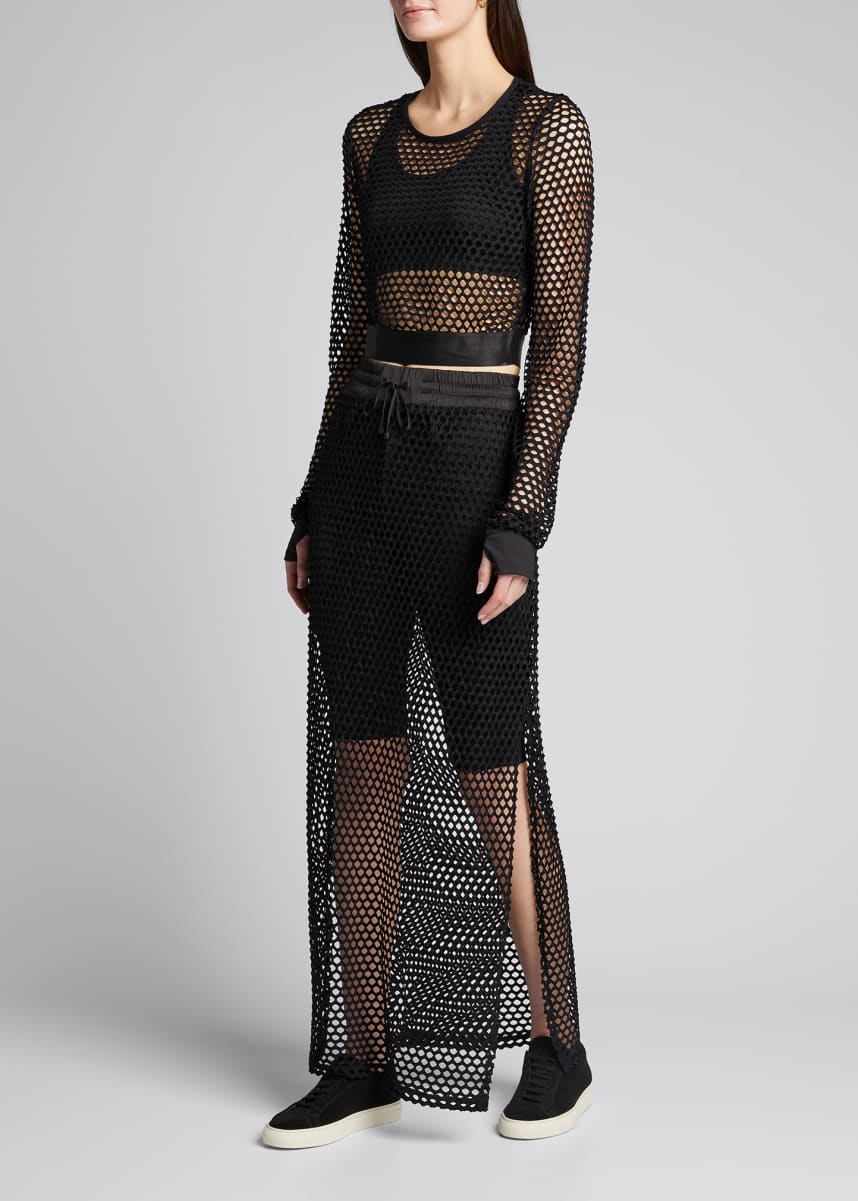 Blanc Noir Expedition Long Mesh Skirt