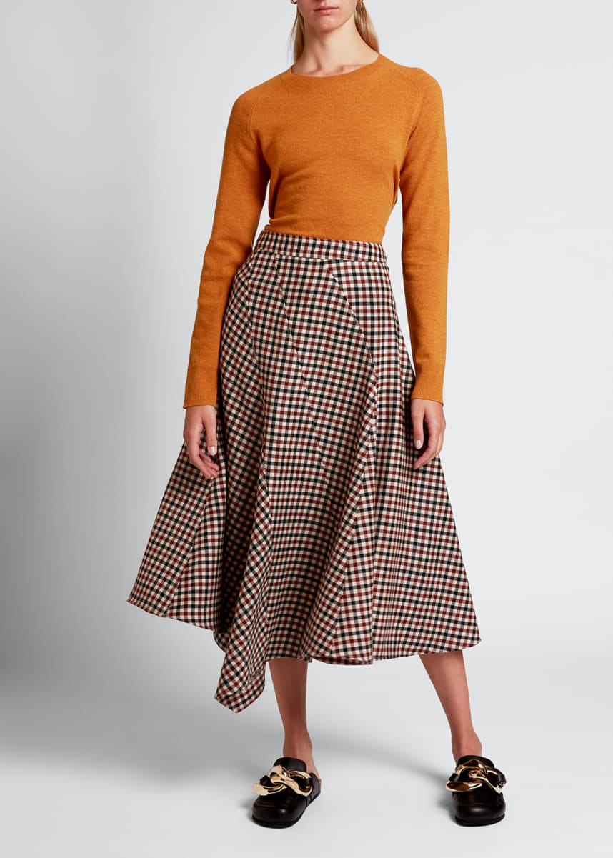 JW Anderson Checked Spiral Skirt