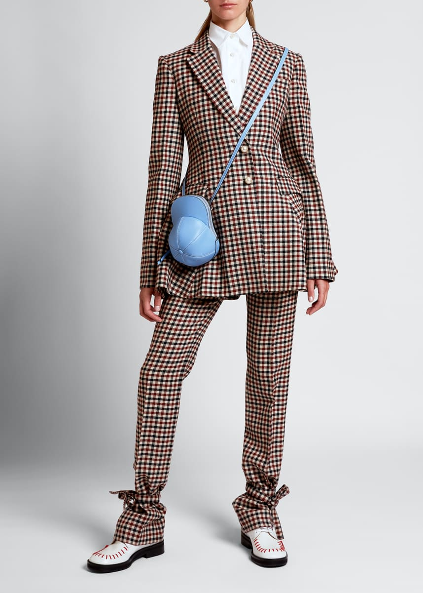 JW Anderson Checked Wool Peplum Jacket