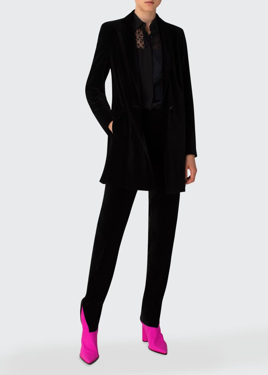 Akris punto Tailored Velvet Blazer