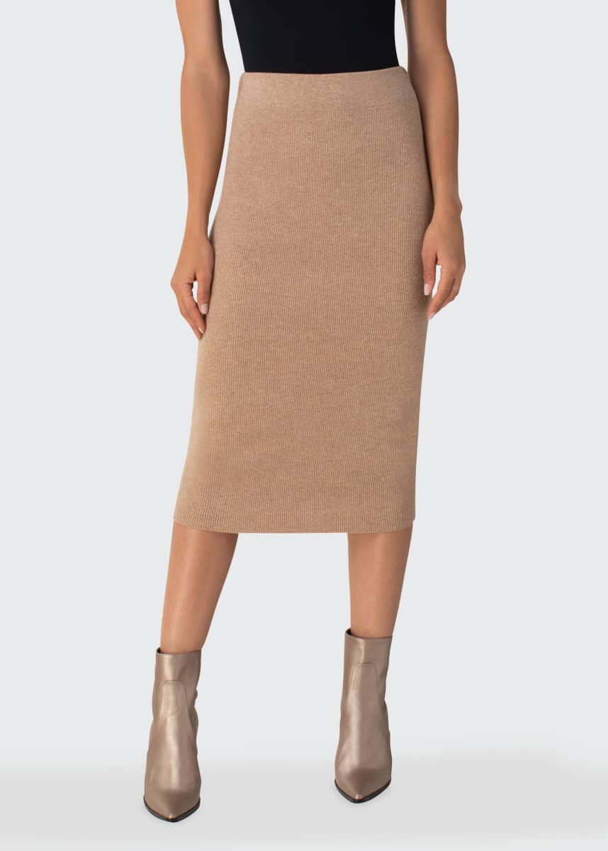 Akris punto Wool-Cashmere Midi Pencil Skirt