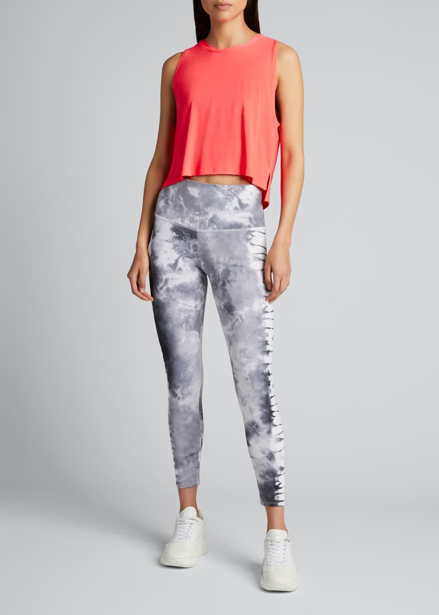 Onzie High Rise Graphic Midi Leggings - Tie Dye
