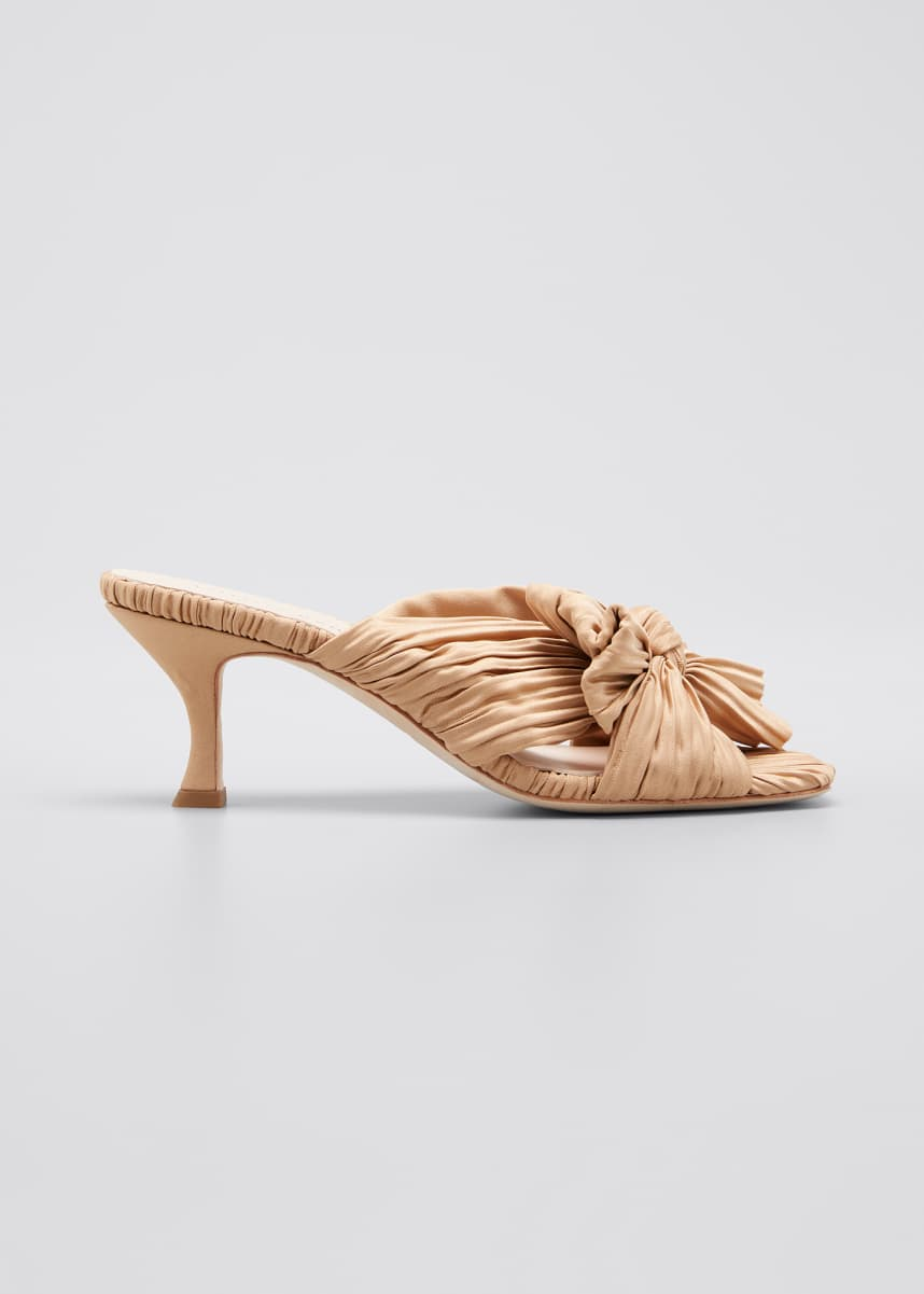 Loeffler Randall 65mm Eugenia Pleated Mule Sandals