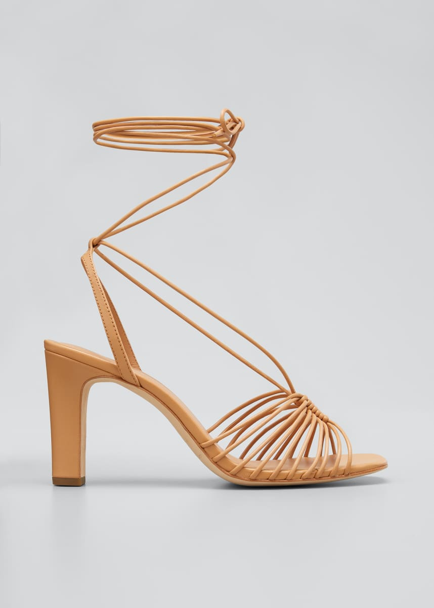 Loeffler Randall Hallie 85mm Strappy Ankle-Wrap Sandals