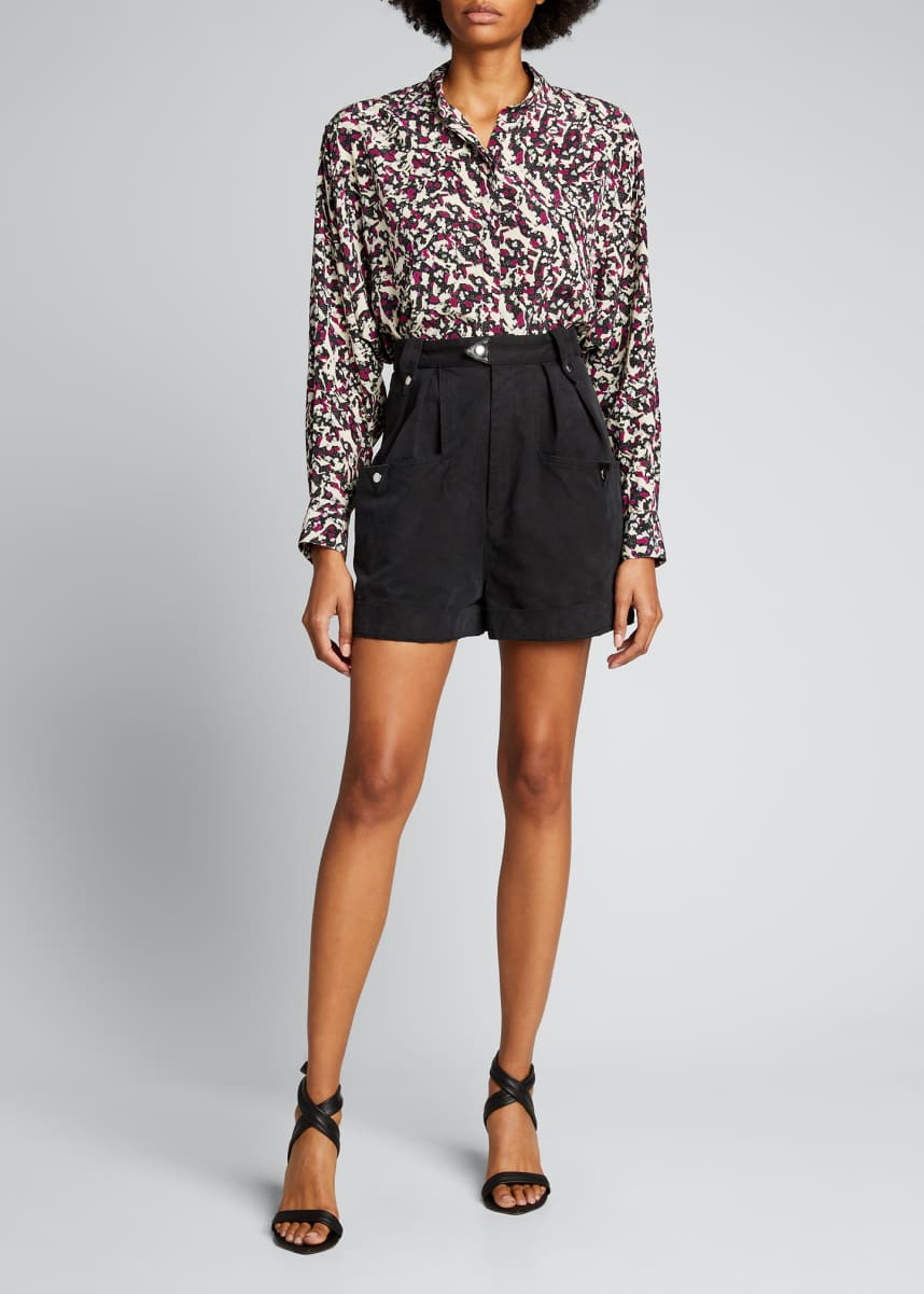 Isabel Marant Hink Printed Button-Front Top