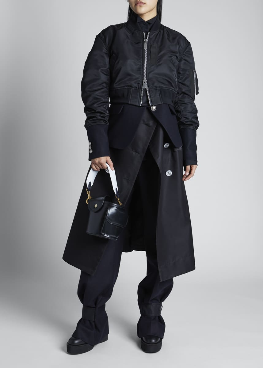SACAI Layered Bomber Combo Trench Jacket