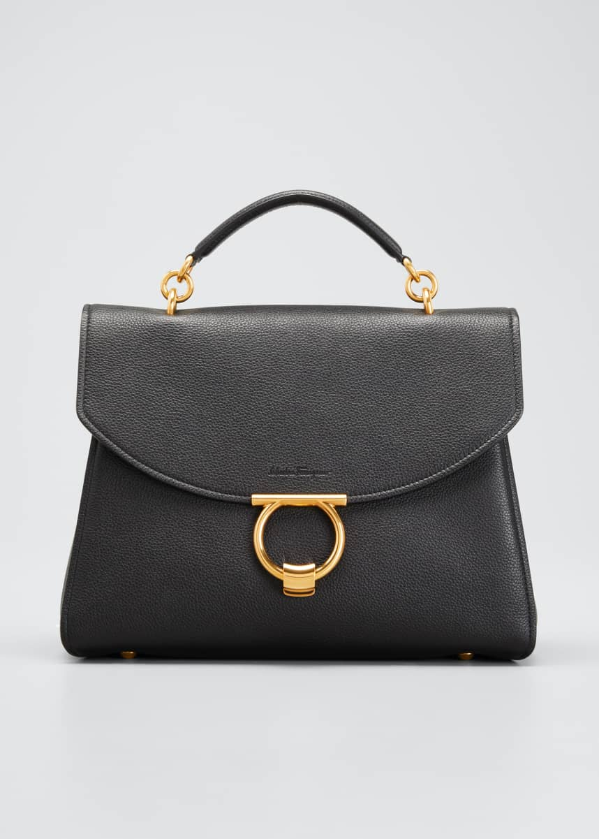 Salvatore Ferragamo Margot Gancini Top Handle Satchel Bag