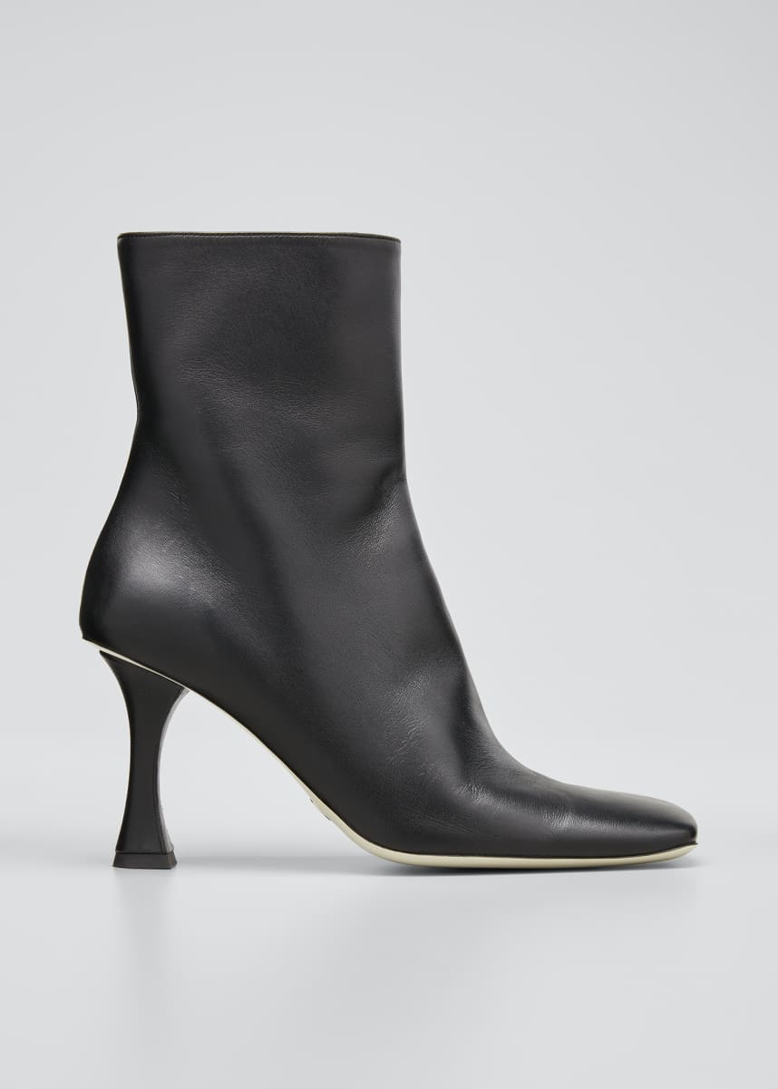 Proenza Schouler Sofia 90mm Leather Zip Ankle Booties