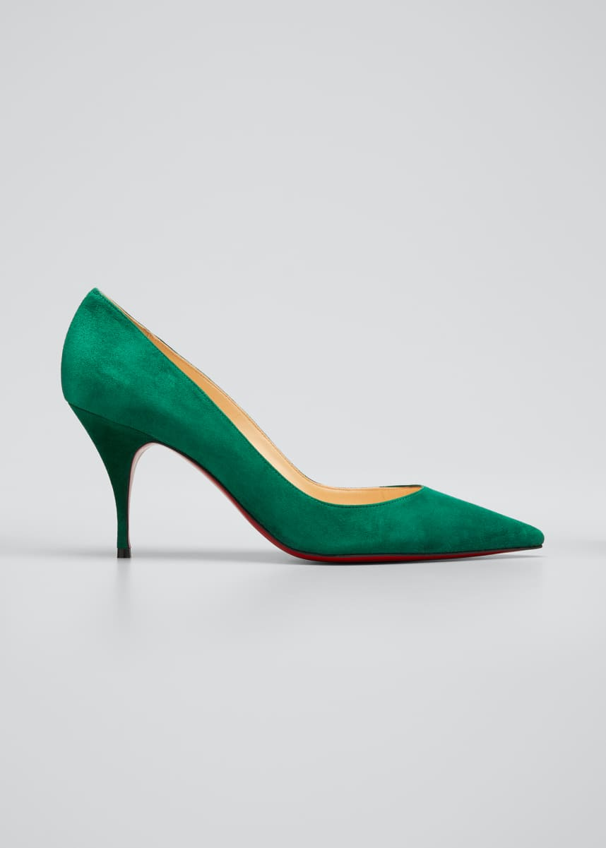 Christian Louboutin Clare 80mm Suede Red Sole Pumps