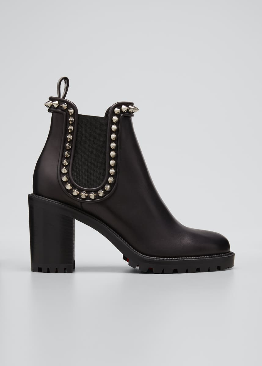 Christian Louboutin Crapahutta 70mm Spiked Leather Ankle Booties