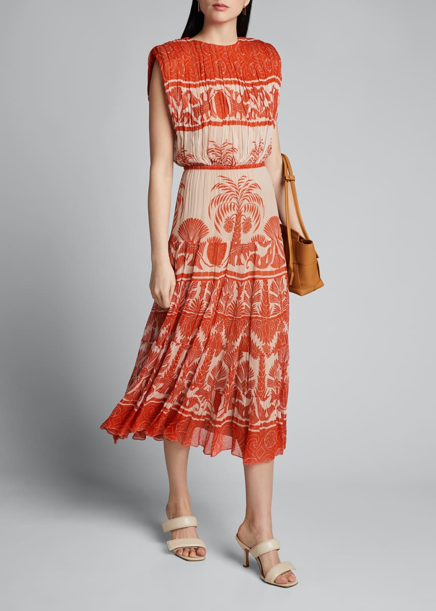 Johanna Ortiz Cordillera Palm Midi Dress