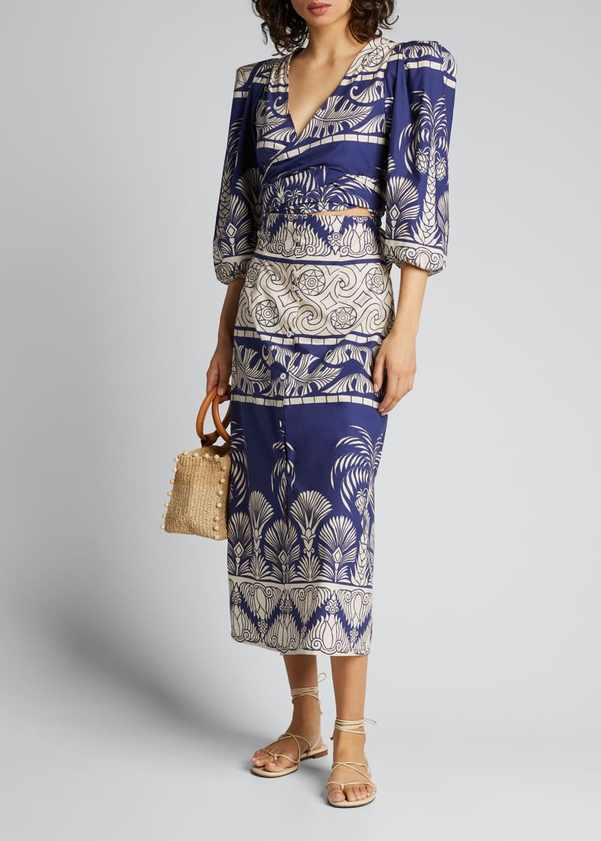 Johanna Ortiz Any Route Goes Palm Print Dress