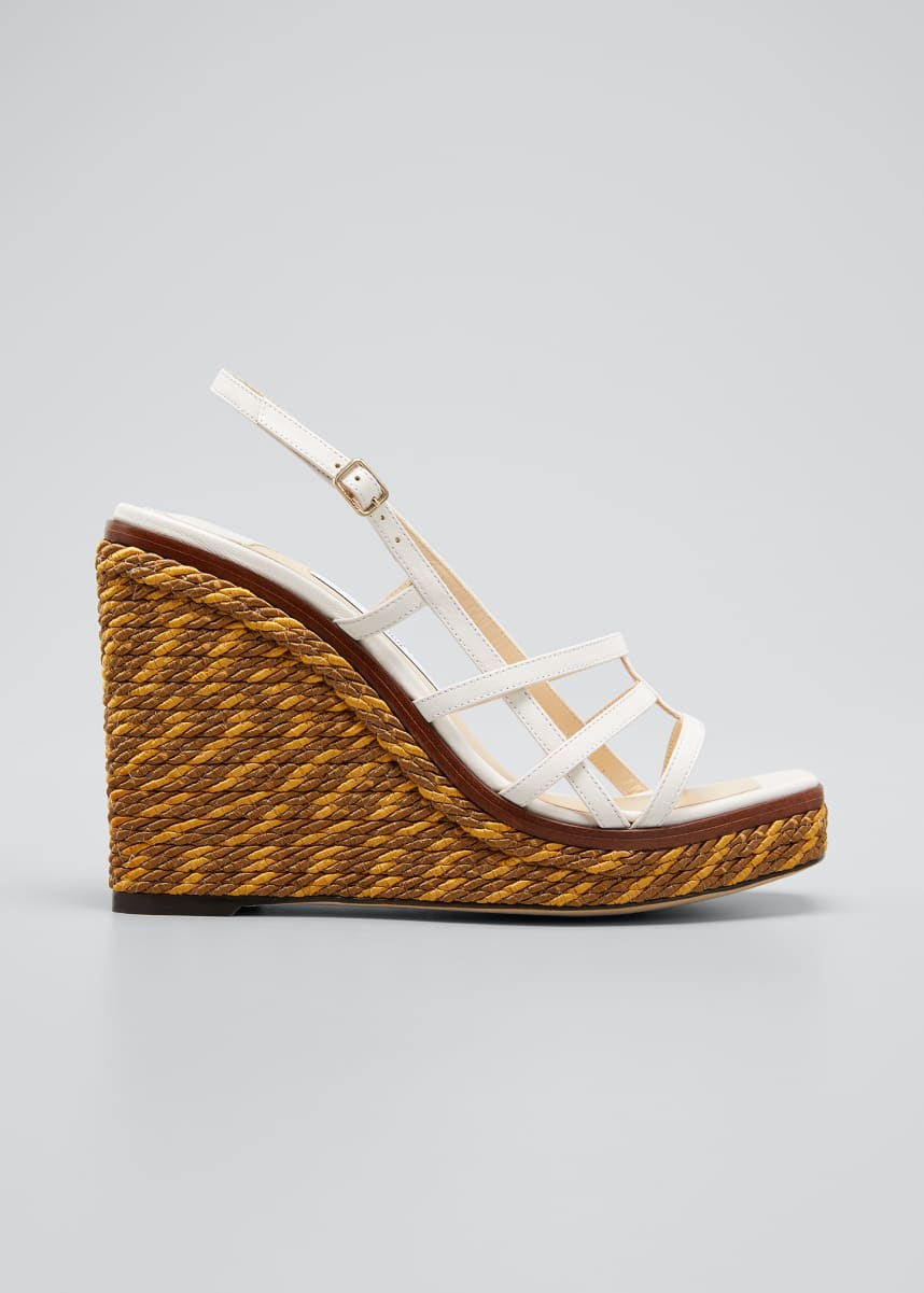 Jimmy Choo Ariella Cage Wedge Espadrille Sandals