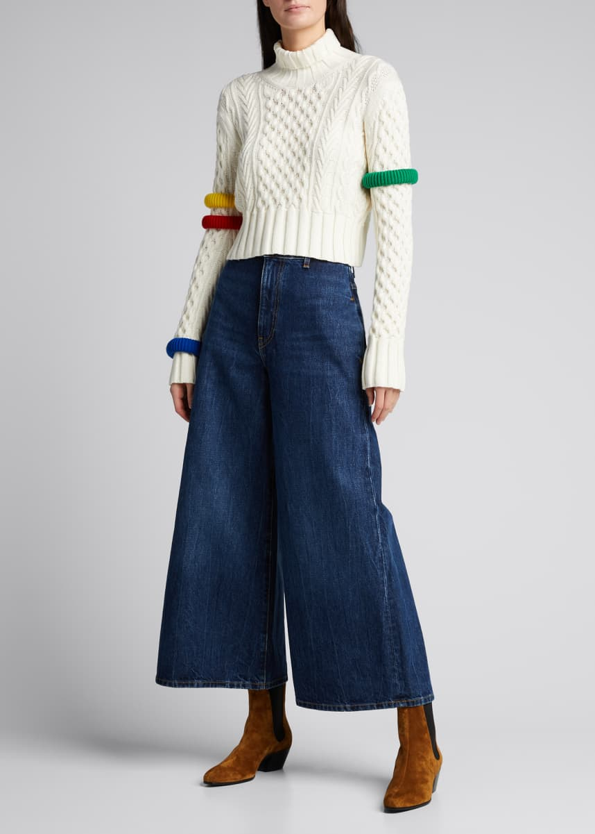 Rosie Assoulin Cable-Knit Wool Bangle Sweater