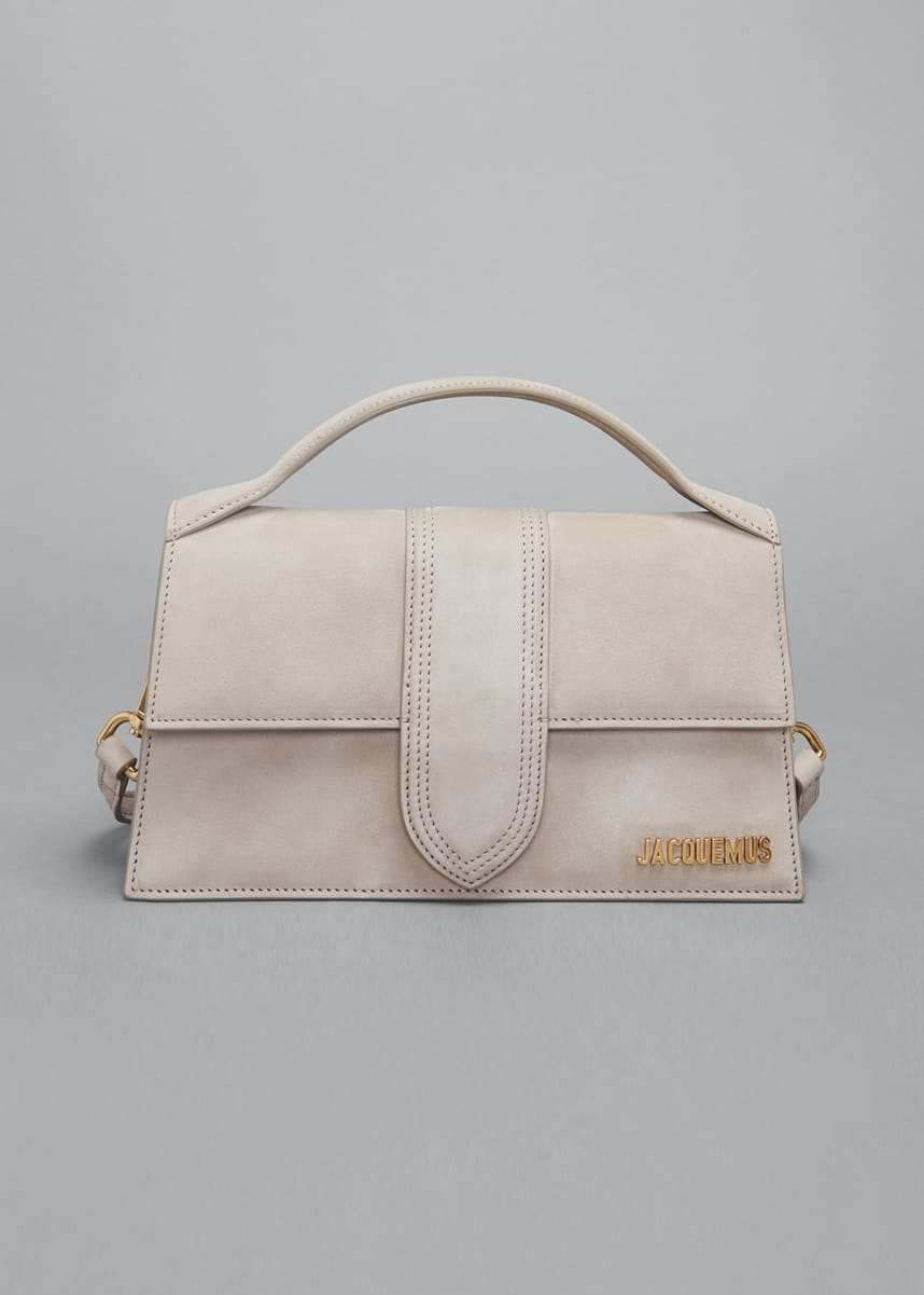 Jacquemus Le Grand Bambino Suede Top Handle Bag