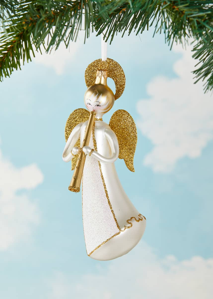 De Carlini Flying Angel Christmas Ornament