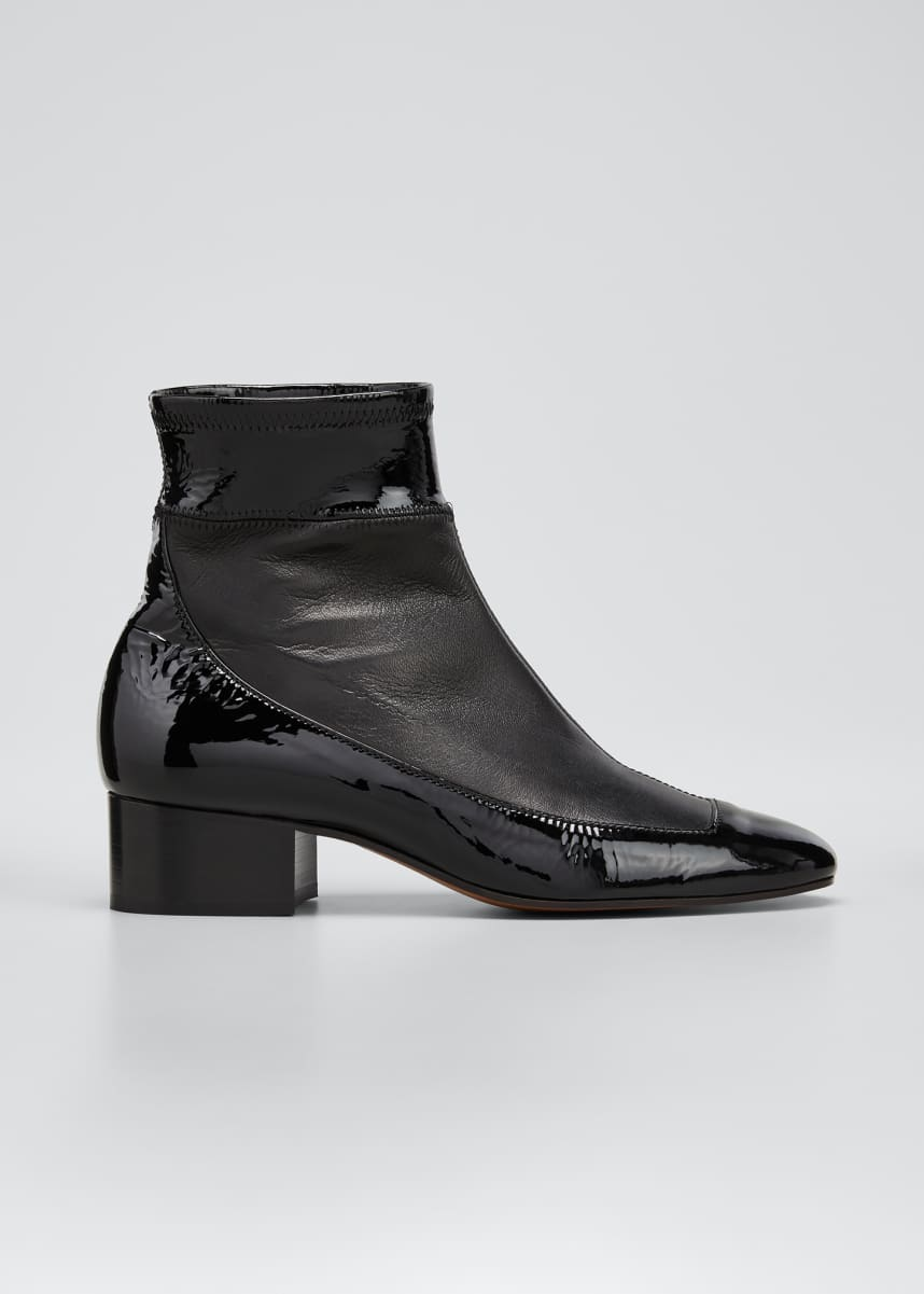 Loewe 40mm Bicolor Stretch Ankle Booties