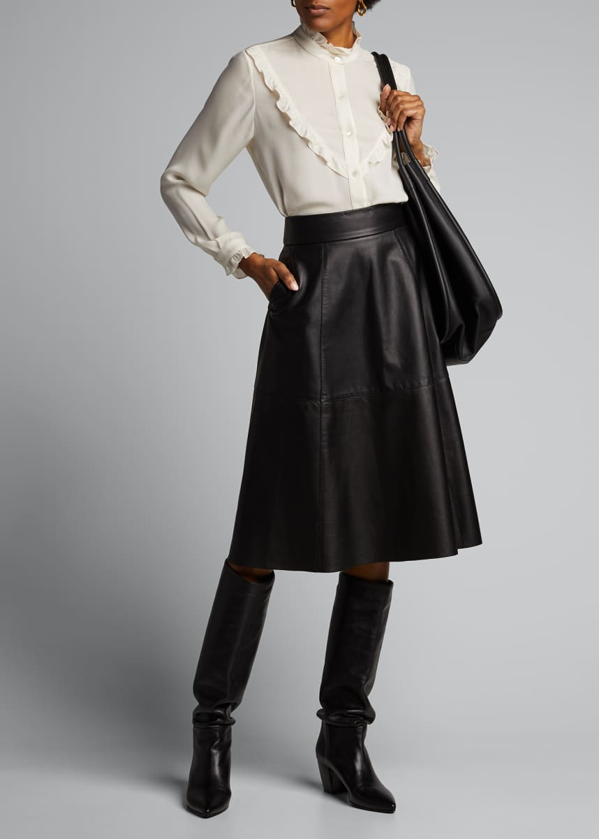 Nili Lotan Elaine Leather Skirt