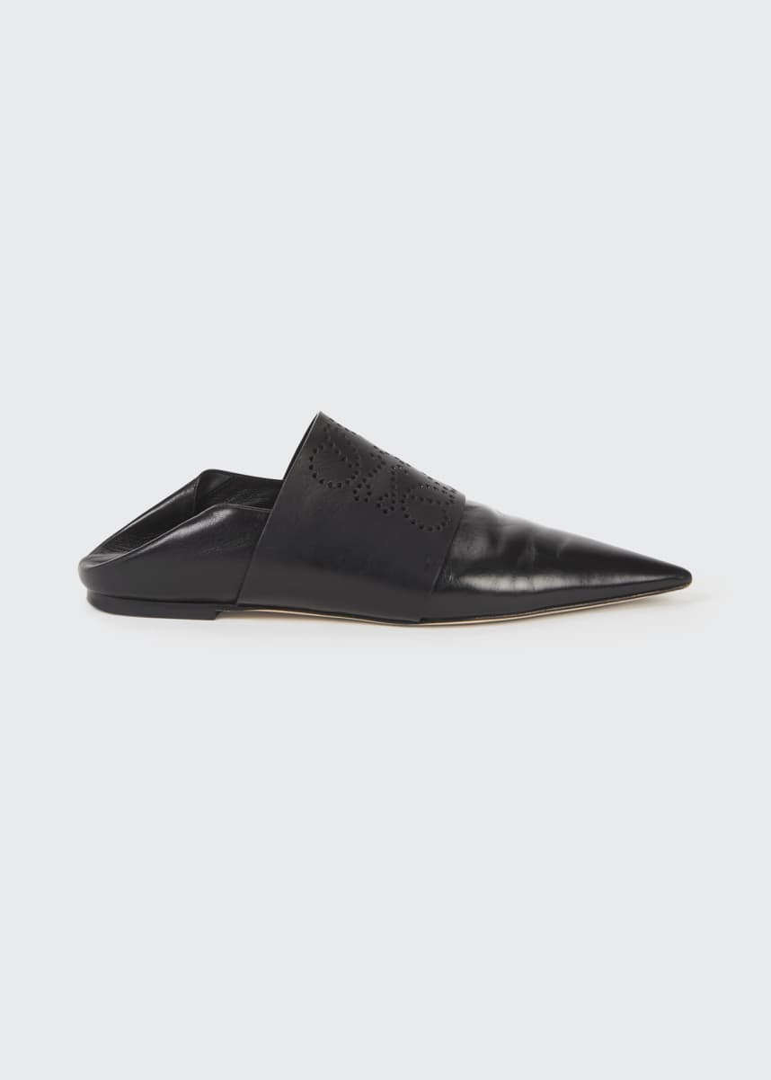 Loewe Anagram Perforated Pointy Mules