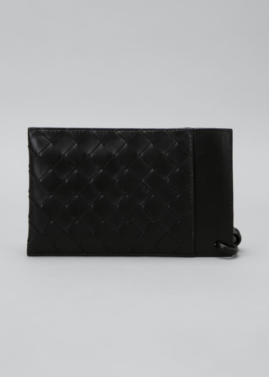 Bottega Veneta Intrecciato 15 Phone Case Zip Wristlet