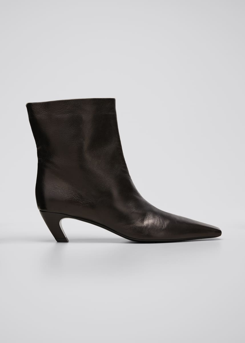 Khaite Arizona Leather Ankle Booties