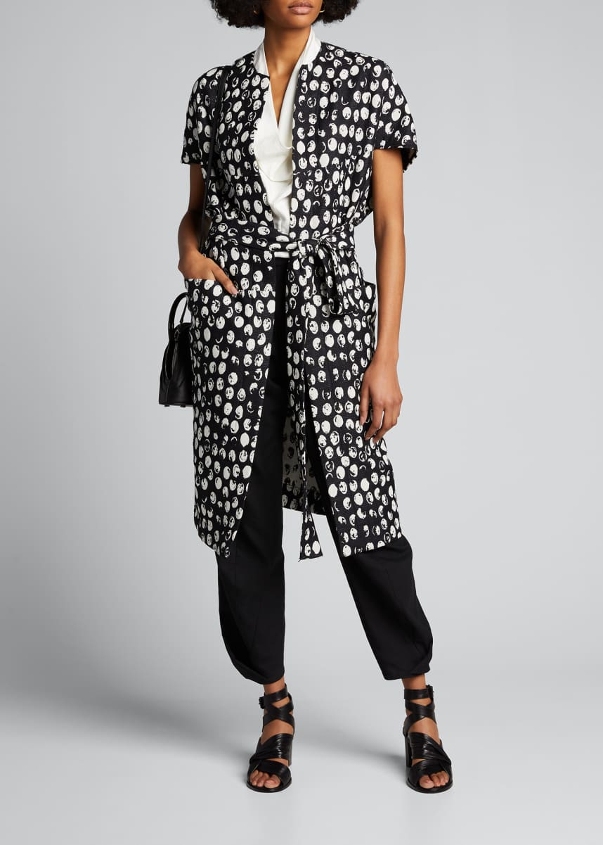 Zero + Maria Cornejo Hexagon Lunar-Phase Print Coat