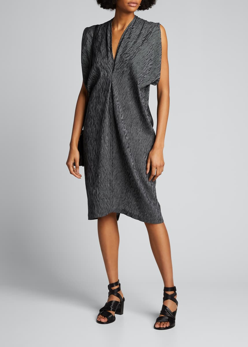 Zero + Maria Cornejo Issa Textured Cotton Dress