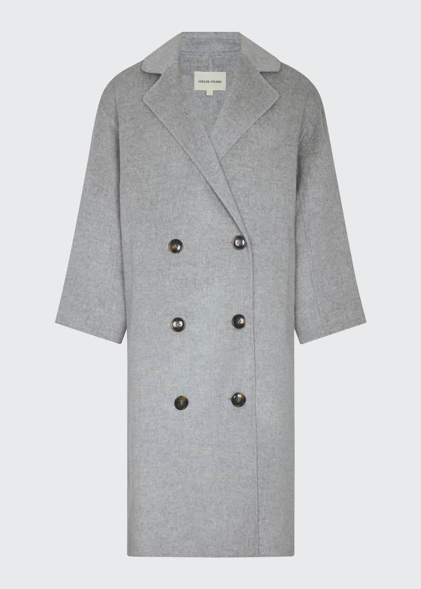 Loulou Studio Oversized Double-Breasted Wool Coat