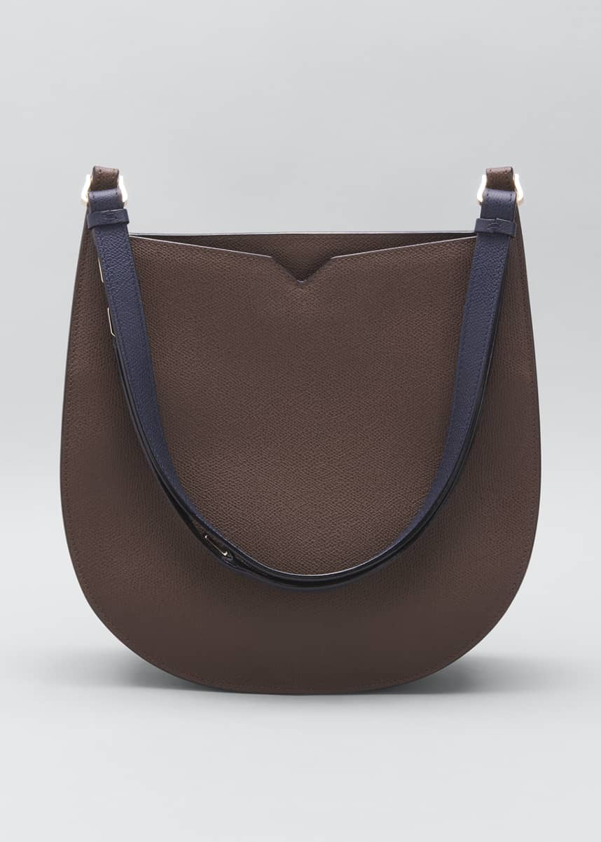 Valextra Medium Bicolor Hobo Bag