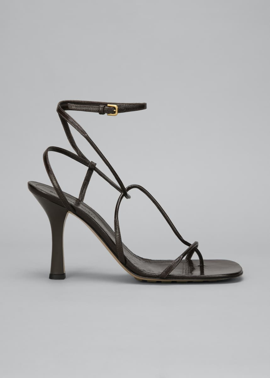 Bottega Veneta 90mm Square-Toe Thong Sandals