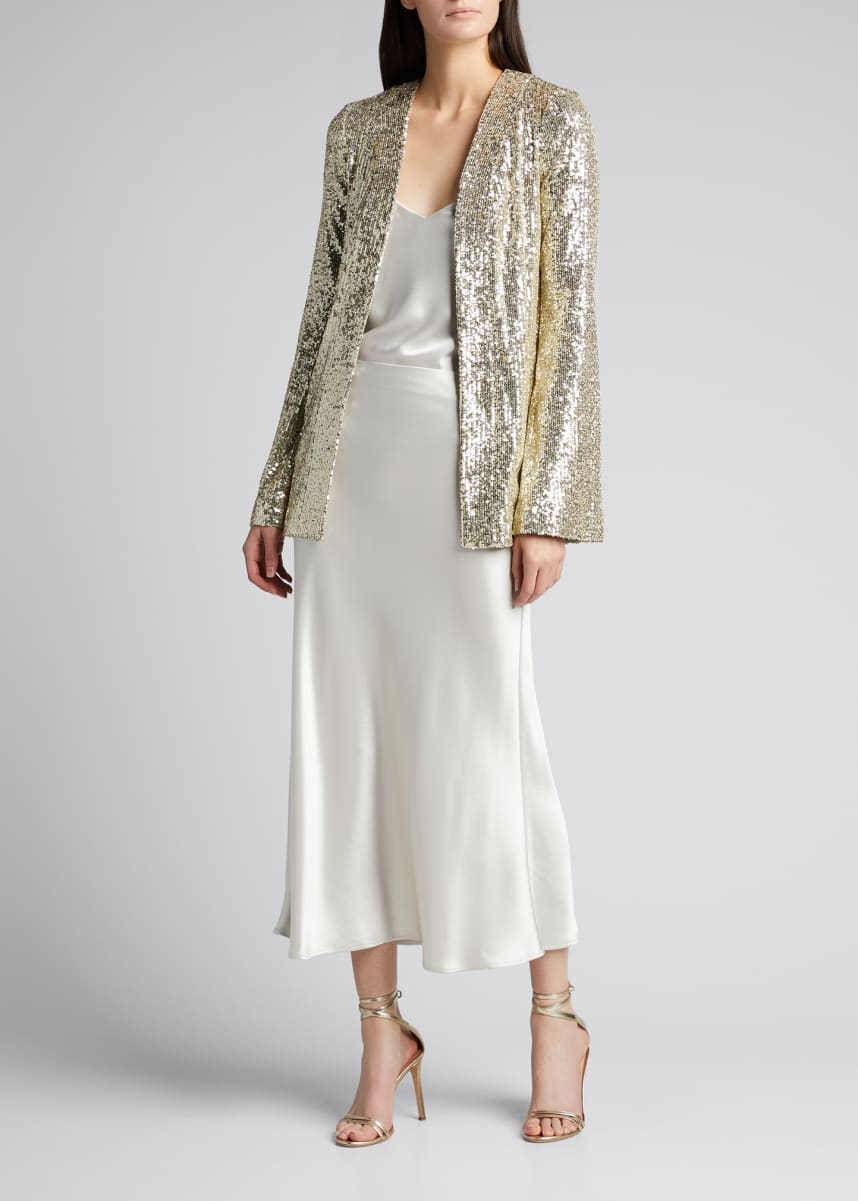 Galvan Sequin Embellished Evening Jacket