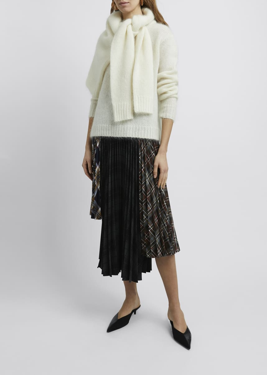 Rokh Tie-Neck Drape Sweater