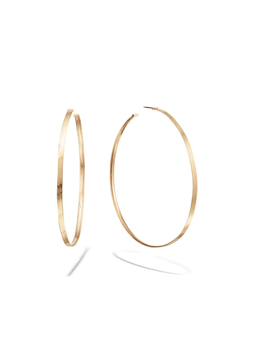 Lana 14k Gold Liquid Hoop Earrings, 75mm