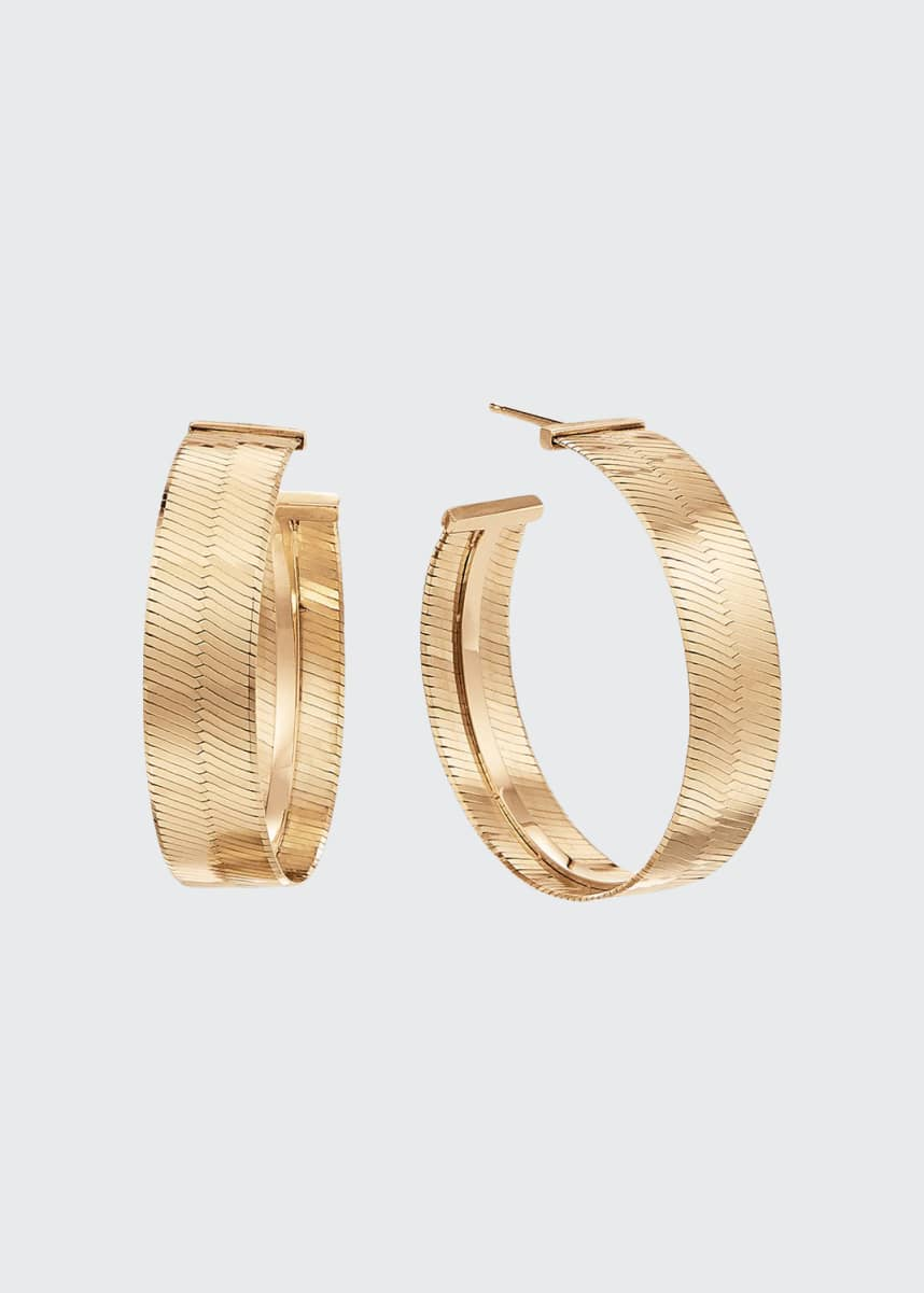Lana Liquid Wide Hoop Earrings, 25mm