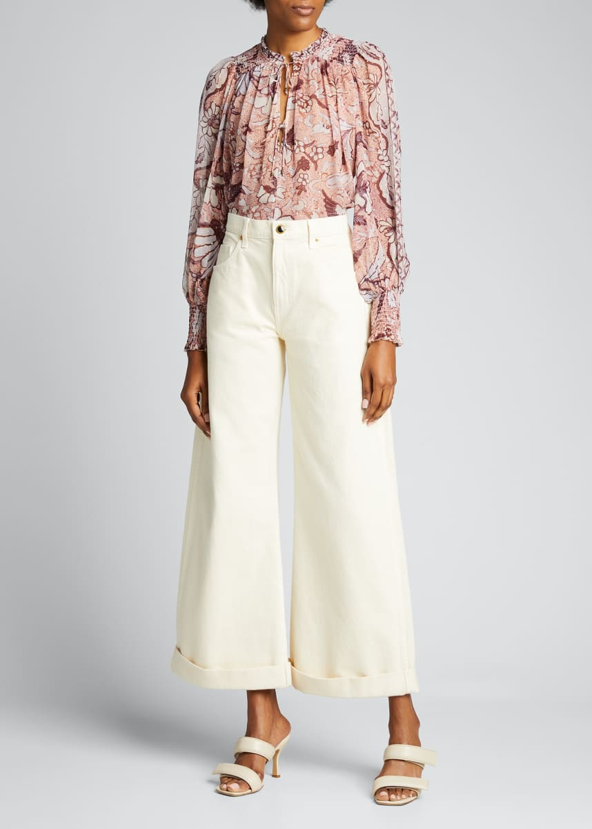 Ulla Johnson Anita Metallic Silk Blouse