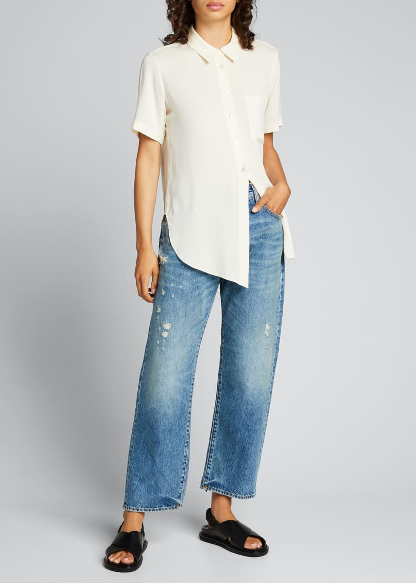 R13 Distressed Boyfriend Jeans