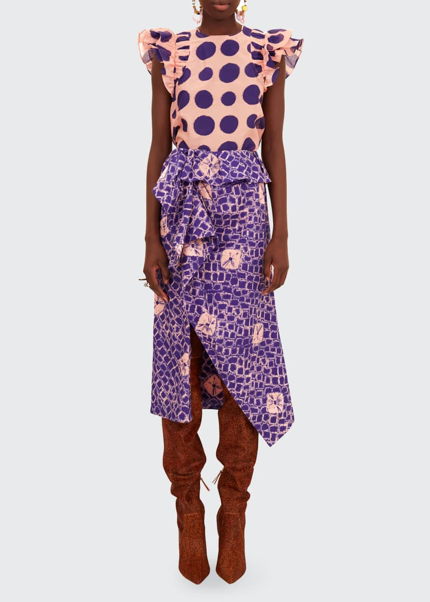 Ulla Johnson Caprice Polka-Dot Top